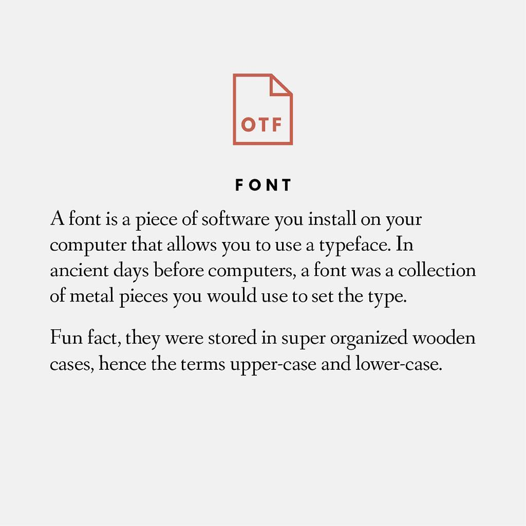 Fonts and text explanation example